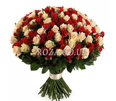 """""""Bouquet of 55 bush roses"""" in the online flower shop roza.od.ua"""