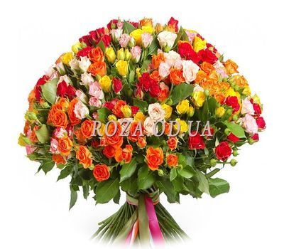 """Bouquet of 99 bush roses"" in the online flower shop roza.od.ua"