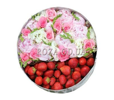 """Summer box with flowers"" in the online flower shop roza.od.ua"