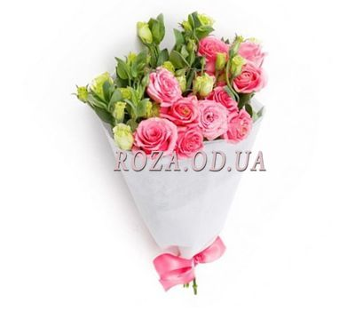 """A small bouquet of pink rose"" in the online flower shop roza.od.ua"