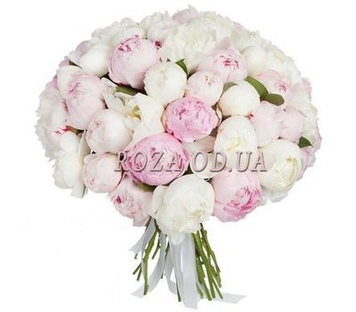"""""""A cloud of 51 peonies"""" in the online flower shop roza.od.ua"""
