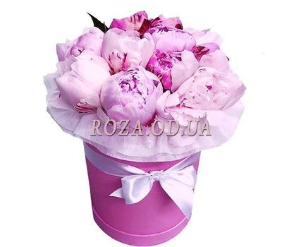 """Pink peonies in a box"" in the online flower shop roza.od.ua"