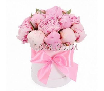 """Chic Peonies in a Box"" in the online flower shop roza.od.ua"
