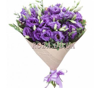 """15 purple eustomas"" in the online flower shop roza.od.ua"