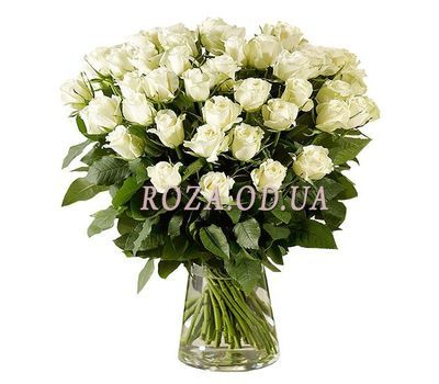 """""""45 импортных белых роз"""" в интернет-магазине цветов roza.od.ua"""