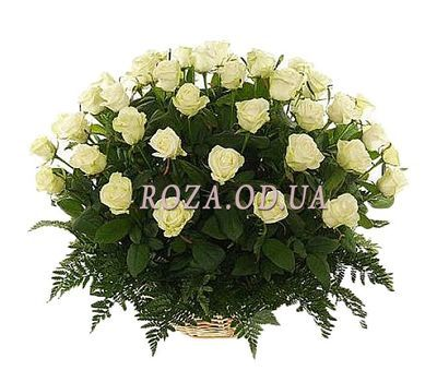 """51 white rose"" in the online flower shop roza.od.ua"
