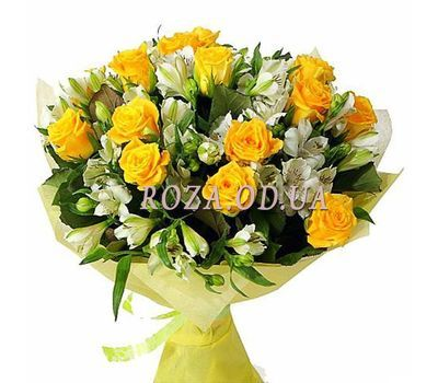 """Alstroemeria and roses"" in the online flower shop roza.od.ua"