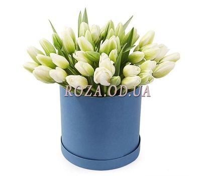 """White tulips in a box"" in the online flower shop roza.od.ua"