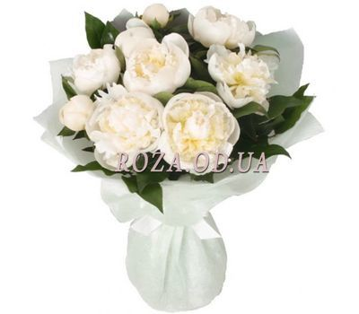 """""""Bouquet of white peonies"""" in the online flower shop roza.od.ua"""