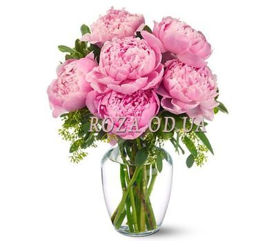 """Bouquet of 9 pink peonies"" in the online flower shop roza.od.ua"