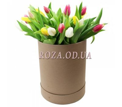 """""""Tulips in a box"""" in the online flower shop roza.od.ua"""