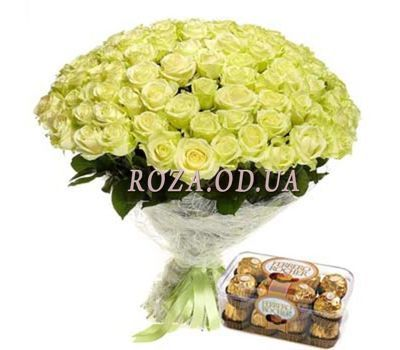 """101 white roses"" in the online flower shop roza.od.ua"