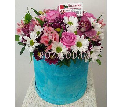 """Цветы в синей коробке"" in the online flower shop roza.od.ua"