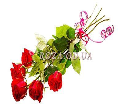 """""""5 красных импортных роз"""" в интернет-магазине цветов roza.od.ua"""