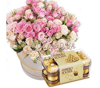 """""""Кустовые розы с Ferrero"""" в интернет-магазине цветов roza.od.ua"""