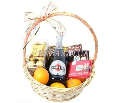 """Champagne and chocolate basket"" in the online flower shop roza.od.ua"