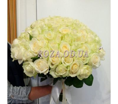 """101 white rose 60 cm - view 5"" in the online flower shop roza.od.ua"