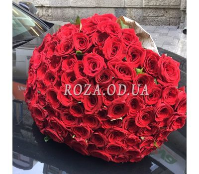 """101 red rose 70 cm - view 1"" in the online flower shop roza.od.ua"