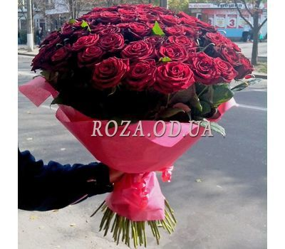 """101 red rose 70 cm - view 3"" in the online flower shop roza.od.ua"