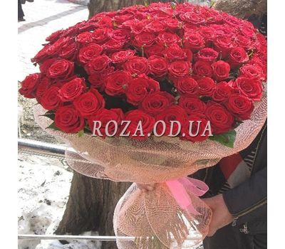 """101 red rose 70 cm - view 4"" in the online flower shop roza.od.ua"