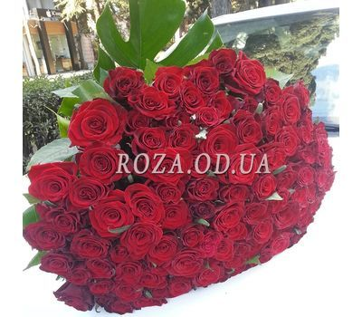 """101 red rose 70 cm - view 5"" in the online flower shop roza.od.ua"