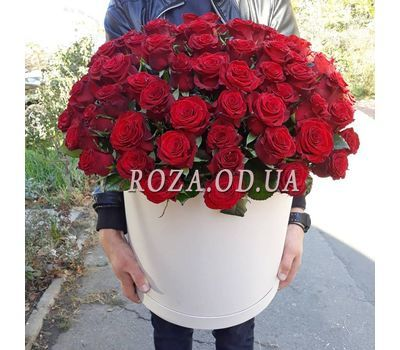 """101 red rose in a box - view 1"" in the online flower shop roza.od.ua"