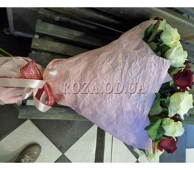"""101 multicolored rose 70 cm - view 1"" in the online flower shop roza.od.ua"