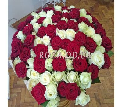 """101 multicolored rose 70 cm - view 2"" in the online flower shop roza.od.ua"