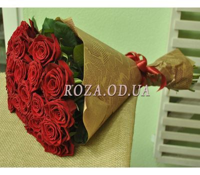 """""""25 red roses - view 2"""" in the online flower shop roza.od.ua"""