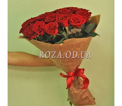 """""""25 red roses - view 3"""" in the online flower shop roza.od.ua"""