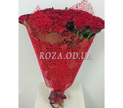 """""""25 red roses - view 4"""" in the online flower shop roza.od.ua"""