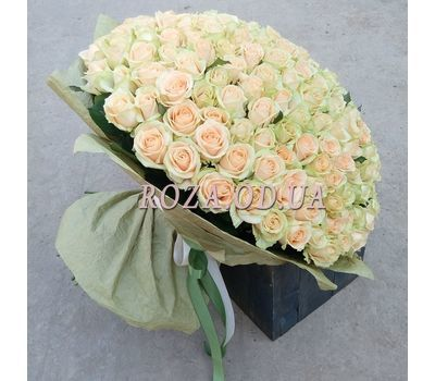 """251 cream rose 60 cm - view 1"" in the online flower shop roza.od.ua"