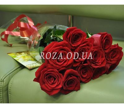 """11 roses - view 4"" in the online flower shop roza.od.ua"