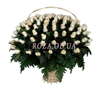 """""""101 import roses in the basket"""" in the online flower shop roza.od.ua"""