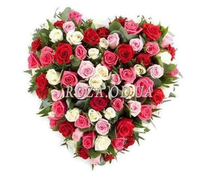 """101 multi-colored rose"" in the online flower shop roza.od.ua"