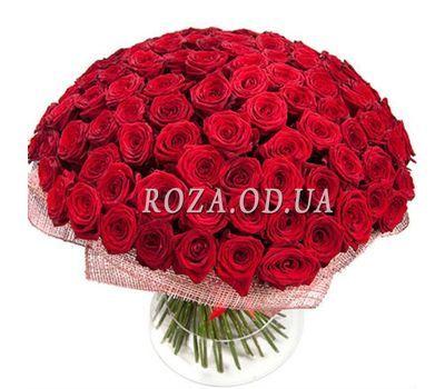 """""""Букет із 121 червоної троянди"""" в интернет-магазине цветов roza.od.ua"""