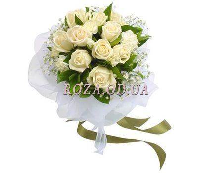 """""""Букет із білих троянд"""" в интернет-магазине цветов roza.od.ua"""