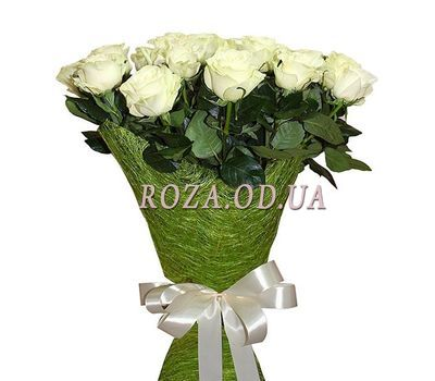 """""""15 imported white roses"""" in the online flower shop roza.od.ua"""