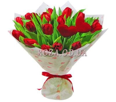 """21 red tulip"" in the online flower shop roza.od.ua"