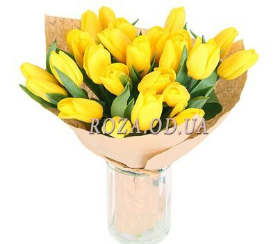 """21 yellow tulip"" in the online flower shop roza.od.ua"
