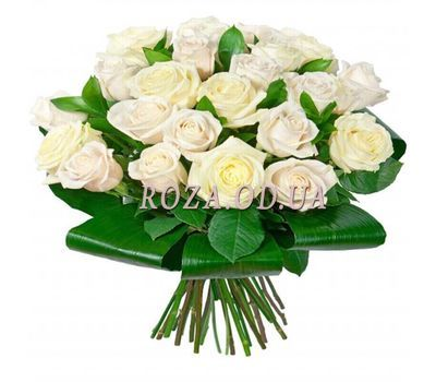 """Bouquet of white roses"" in the online flower shop roza.od.ua"