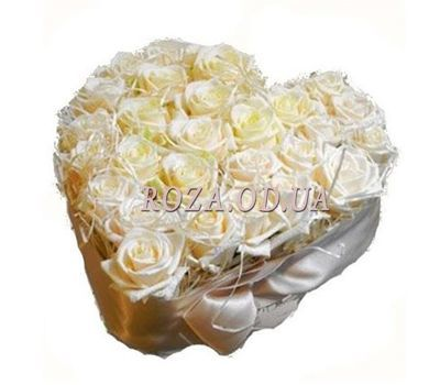 """""""27 white roses"""" in the online flower shop roza.od.ua"""