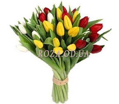 """""""29 разноцветных тюльпанов"""" в интернет-магазине цветов roza.od.ua"""