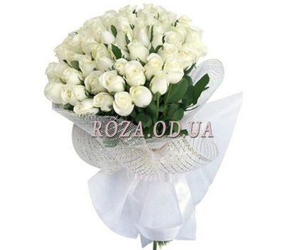 """35 white imported roses"" in the online flower shop roza.od.ua"