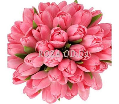 """45 pink tulips"" in the online flower shop roza.od.ua"