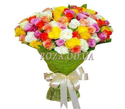 """51 multi-colored rose 60 cm"" in the online flower shop roza.od.ua"