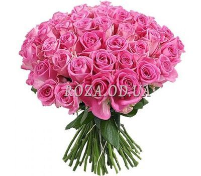 """51 pink roses 60 cm"" in the online flower shop roza.od.ua"