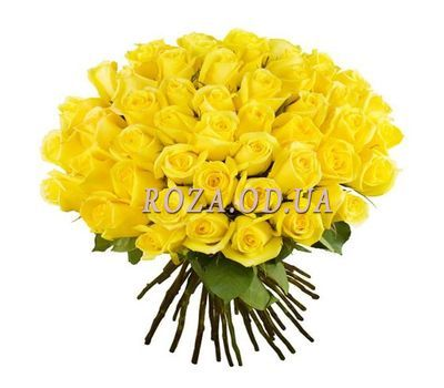 """Bouquet of 51 yellow roses"" in the online flower shop roza.od.ua"