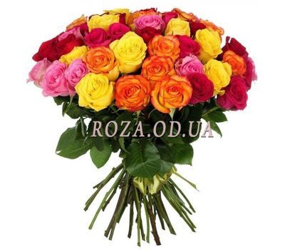 """55 multi-colored roses"" in the online flower shop roza.od.ua"