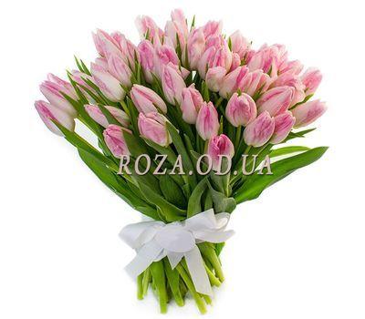"""65 рожевих тюльпанів"" в интернет-магазине цветов roza.od.ua"
